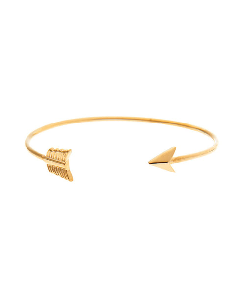 Gold Plated Silver Arrow Bangle