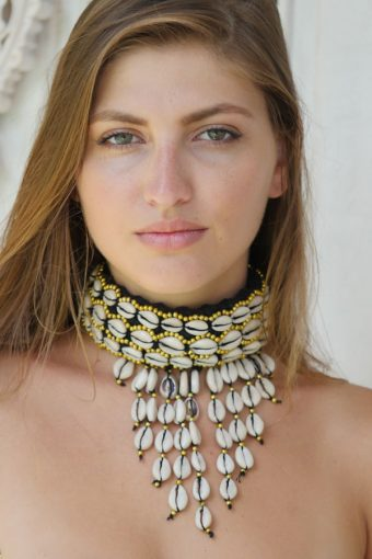 Black Kerang Handwoven Cotton Choker