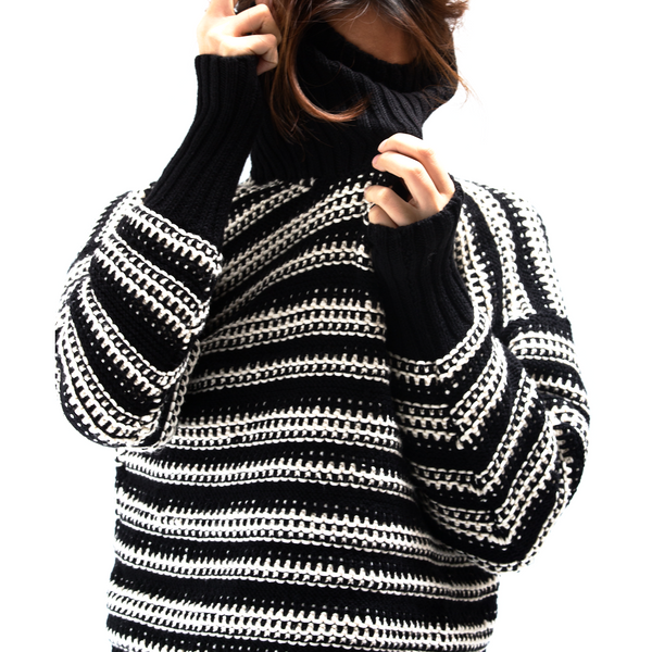 Black & White Ferson Sweater