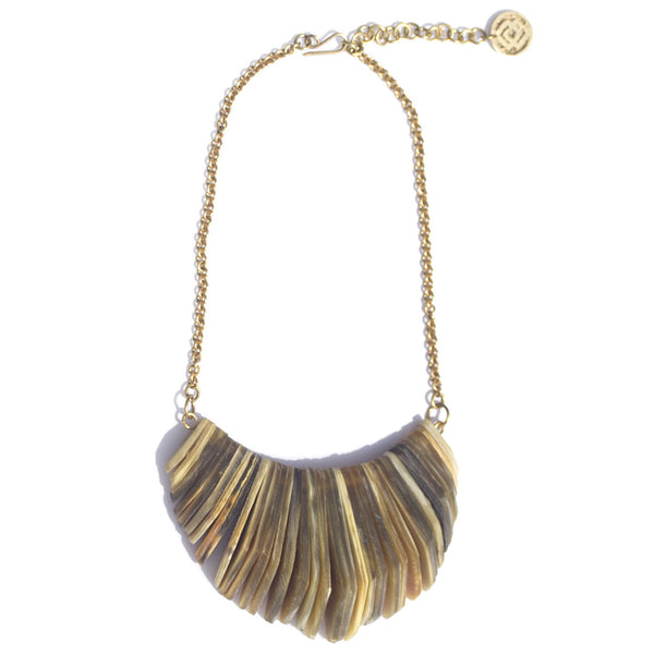 Soko x Laura Siegel Stacked Horn Necklace (Partial)