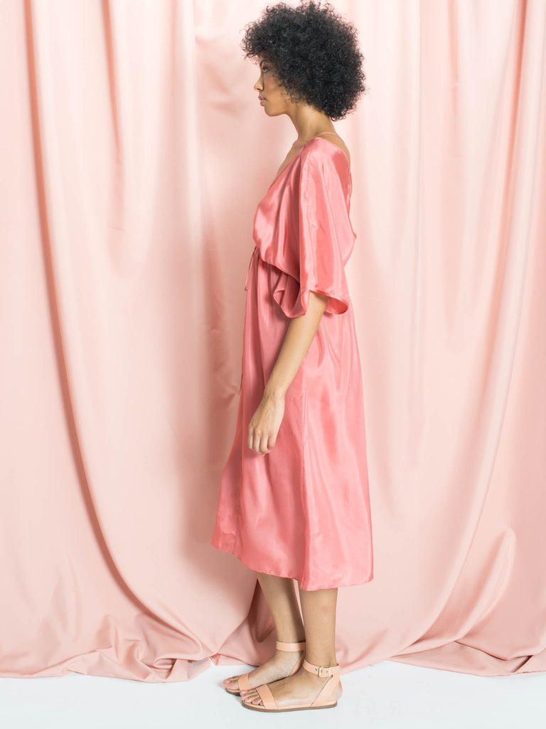 The Sasha Pink Silk Caftan