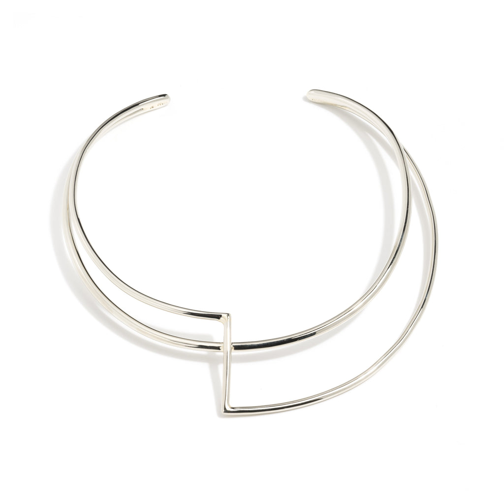 Silver Libertad Choker Necklace