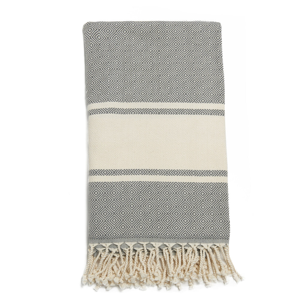 Light Gray Cotton & Linen Turkish Towel