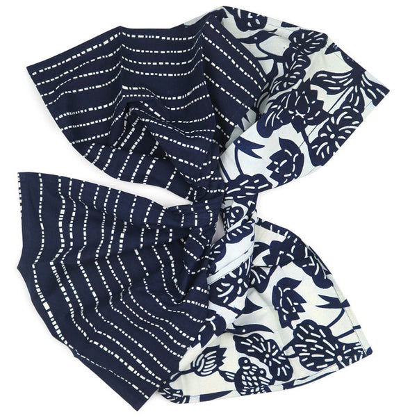 Indigo Cotton Fish Bowl and Babyteeth Tea Towel Set