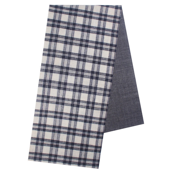 Checked Plaid Homespun Cotton Table Runner