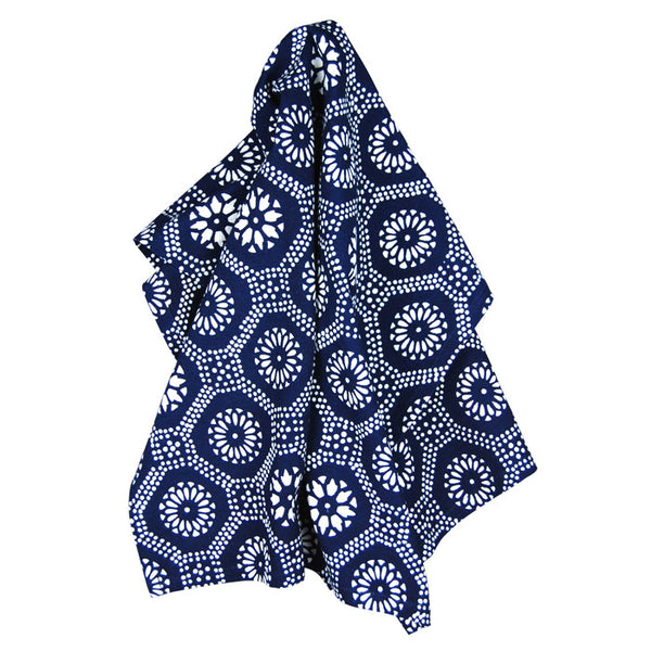 Indigo Honeycomb Cotton Tea Towel