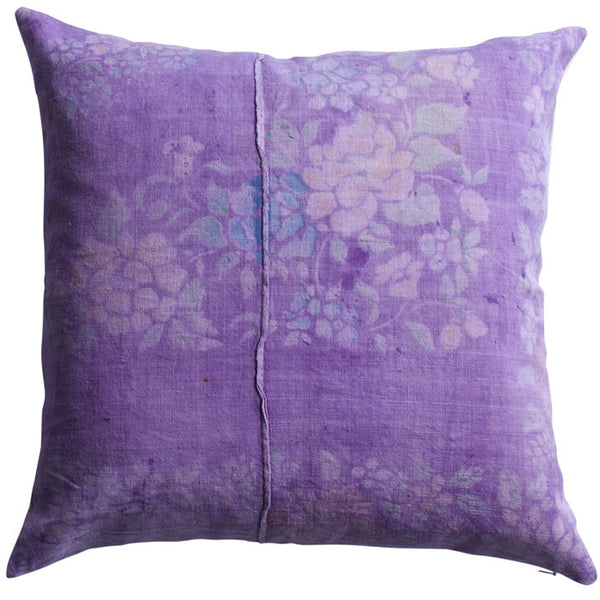 Vintage Purple Cotton Dongbei Pillow