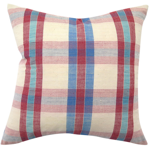 Vintage Homespun Hong Kong Pillow