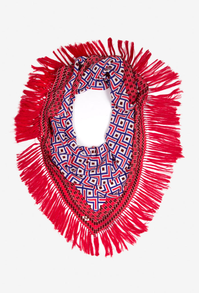 Mahana Red Silk Scarf