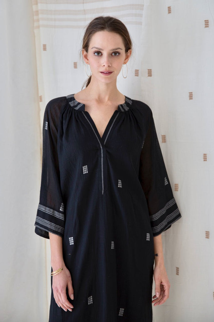 Black Cotton Palm Springs Caftan