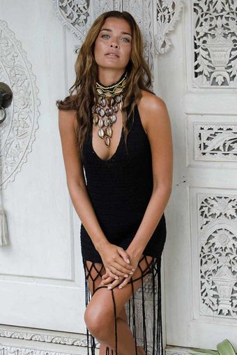 Black Maluku String Dress