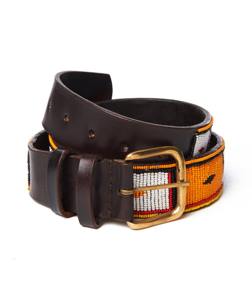 Square Center Bead Belt