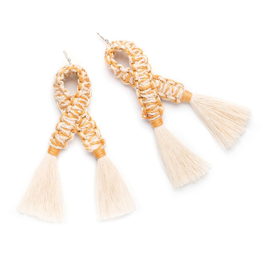 Matrimonio Raw Cotton Earrings