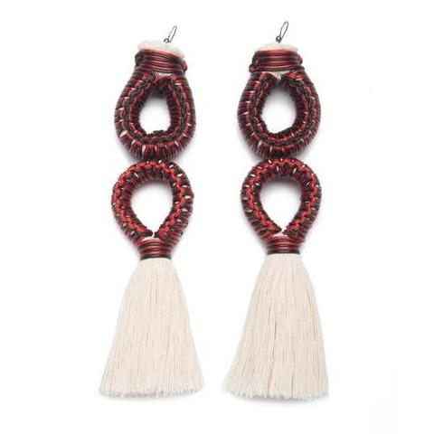 Mazorca Doble Raw Cotton Earrings