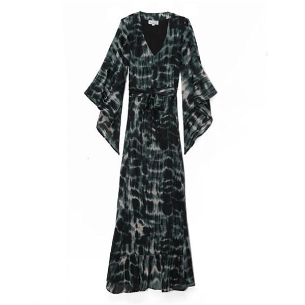 Morocco Tie Dye Cotton Caftan Dress