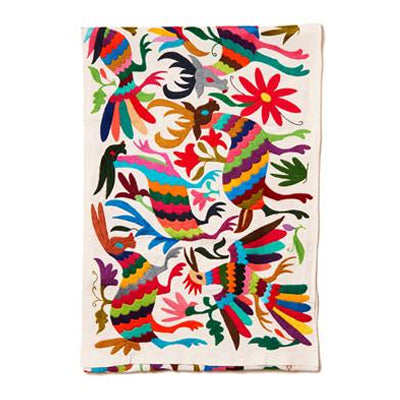 Multi Otomi Cotton Tenango Table Runner