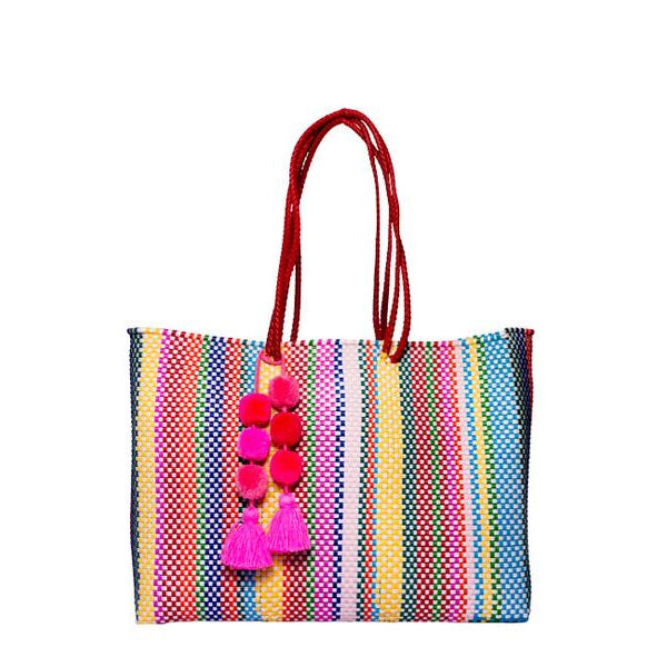 Multicolor Stella Large Long Handle Tote