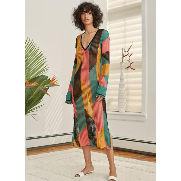 Multicolored Cotton Serreno Caftan
