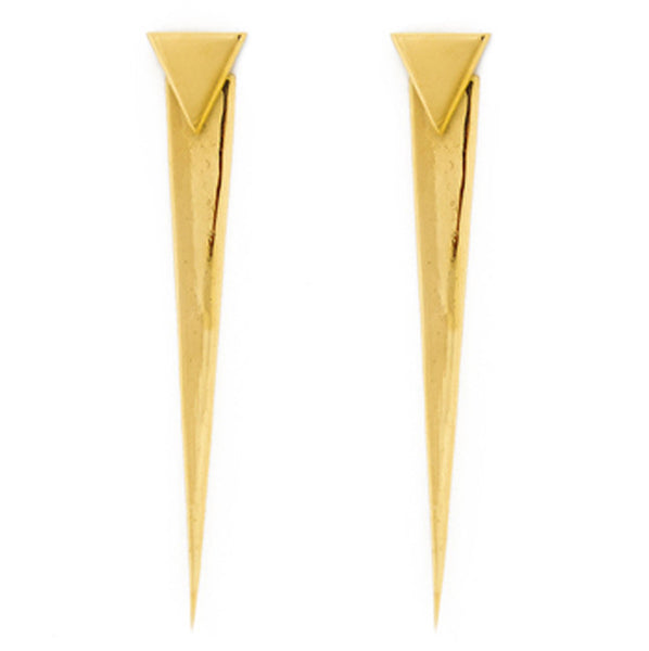 Nishi Gold Plated Brass Earrings