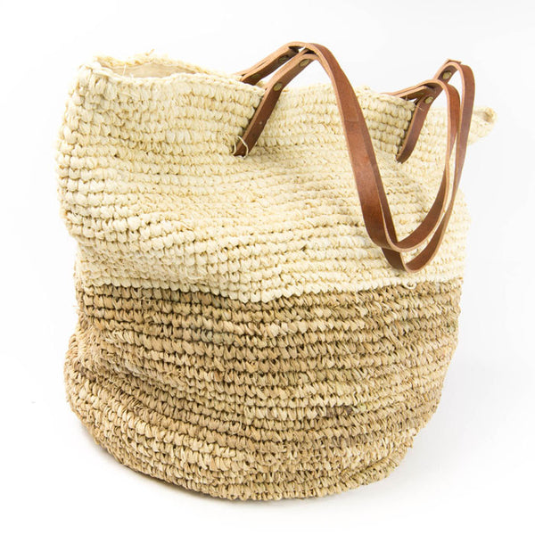 Natural Raffia Beach Tote