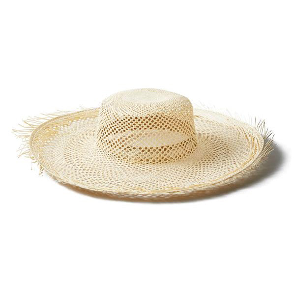 Natural Straw Raw Pimienta Hat