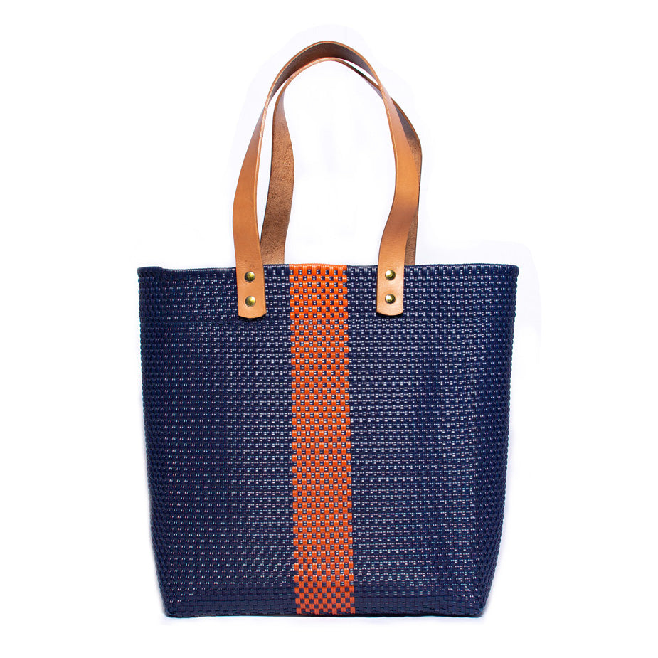 Navy & Orange Stella Market Tote
