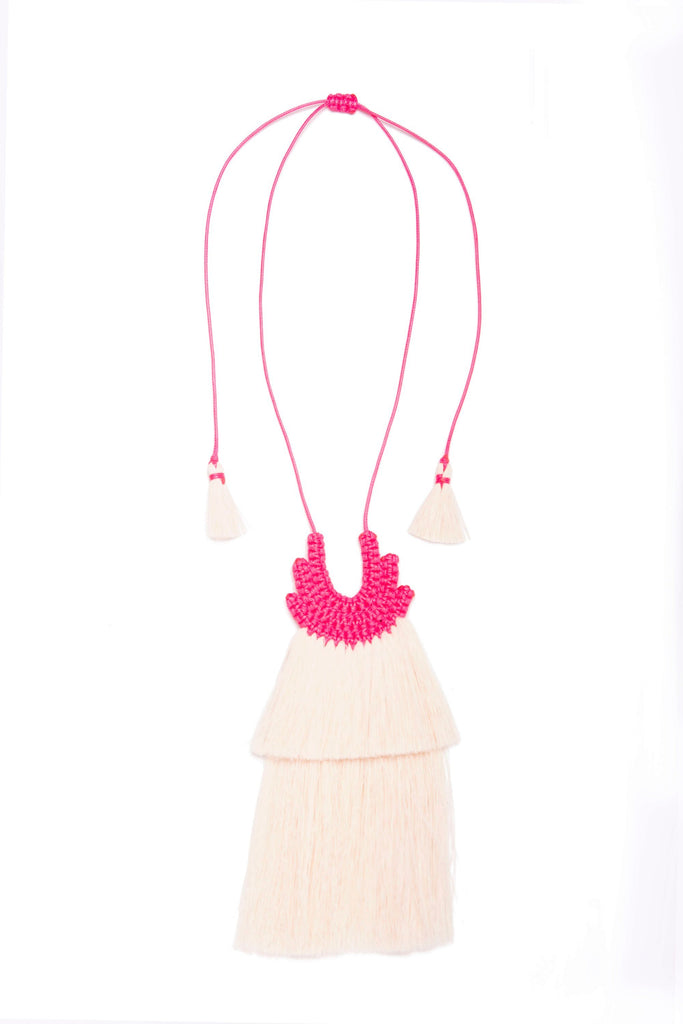 Novia Meshica Raw Cotton Necklace