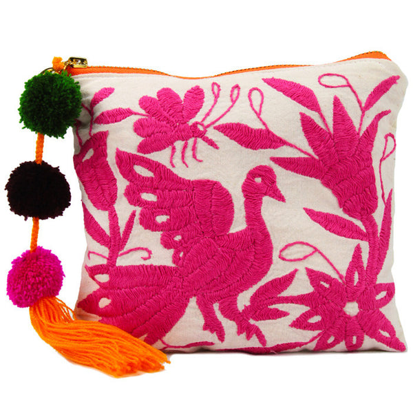 Pink Camila Otomi Pouch