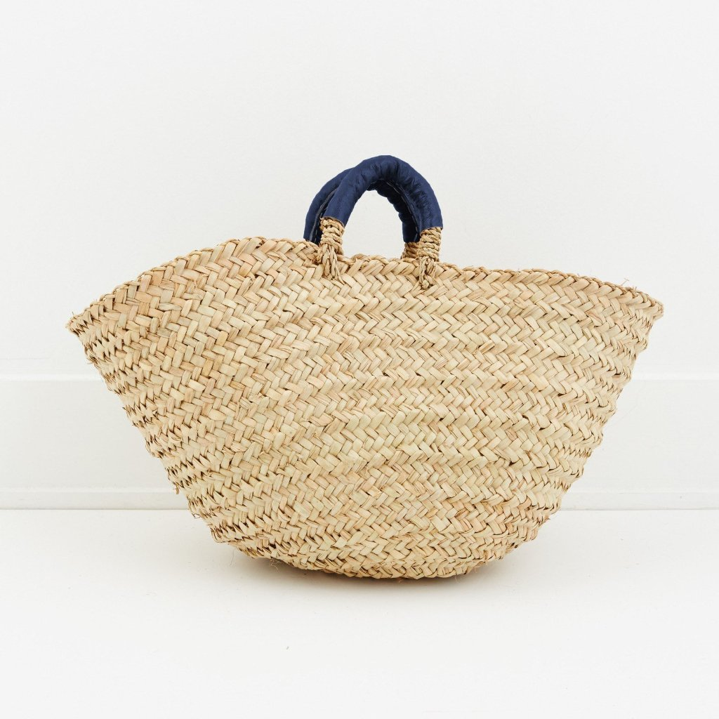 Ink Blue Palm Contessa Cottage Basket