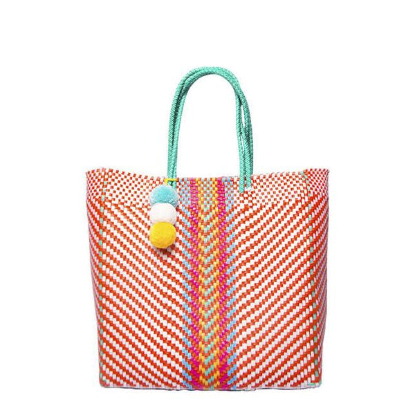Orange Stella Medium Short Handle Tote