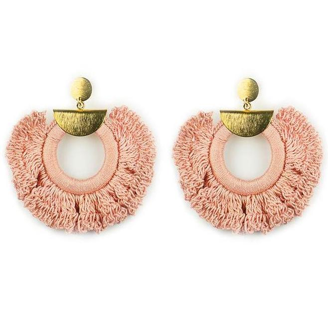 Palo Rosa Crochet Ximena Earrings