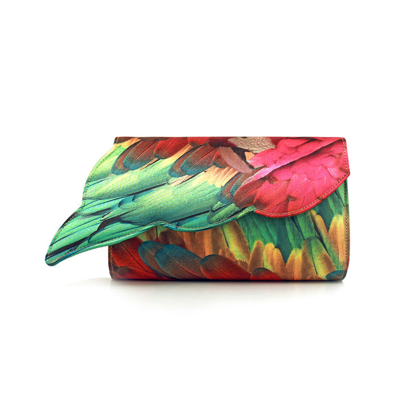 Parrot Wing Fuchsia Clutch
