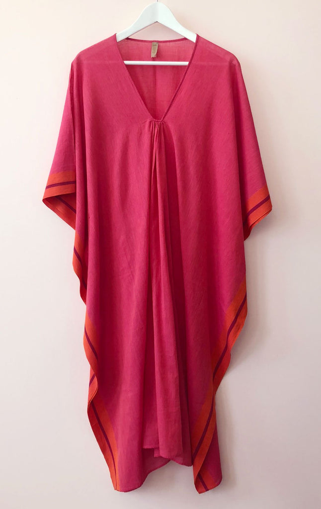 Pink & Orange Cotton Caftan