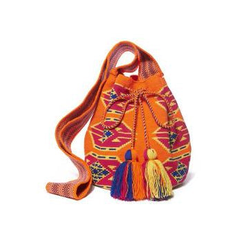 Pink Maze Diamond Cotton Cartagena Mochila Bag
