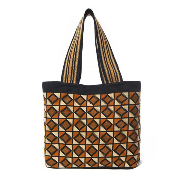 Pumpkin Diamond Cotton Tote