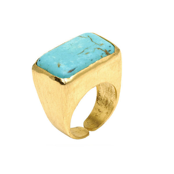 DEACTIVATED FOR API Turquoise and Gold Halid II Ring