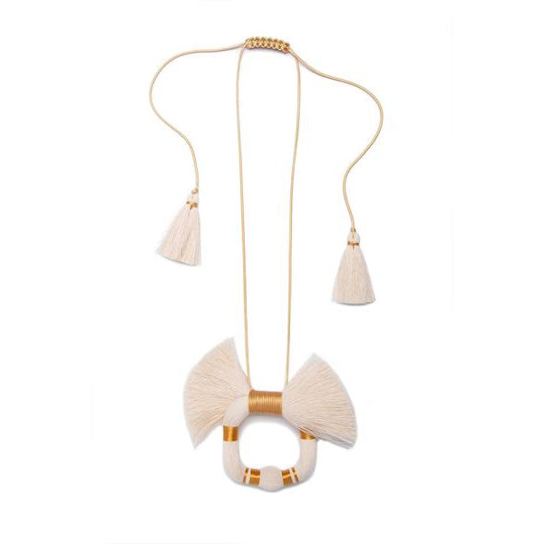 Raw Cotton Ceh Venado Necklace