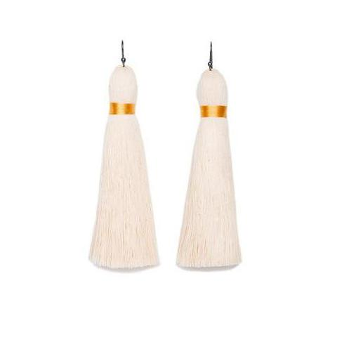 Raw Cotton Muan Lechuza Earrings