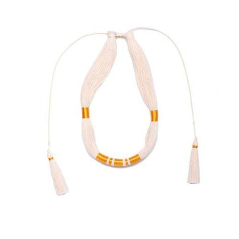 Raw Cotton Muan Lechuza Necklace