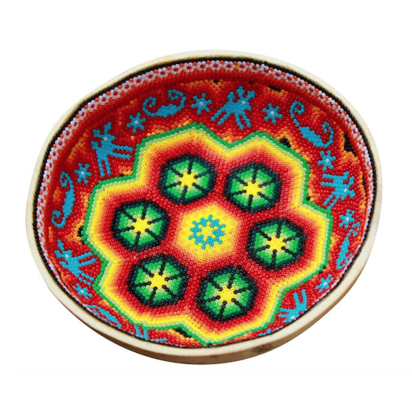 Red Ceremonial Huichol Bowl