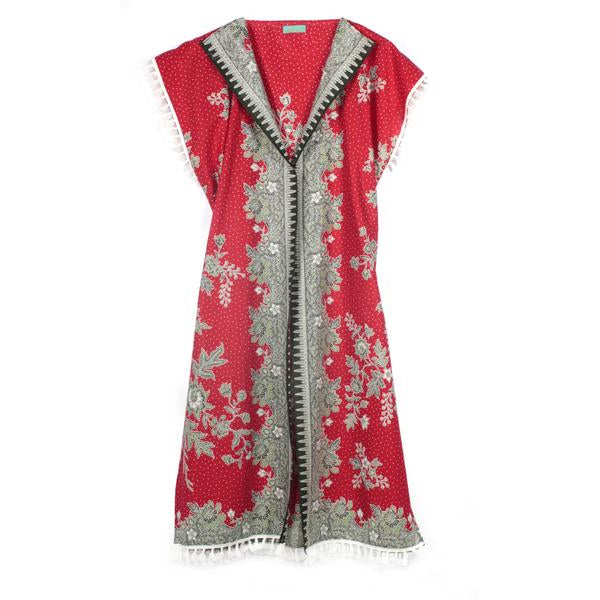 Red Dragon Cotton Kimono