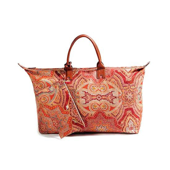 Red Paisley Travel Bag