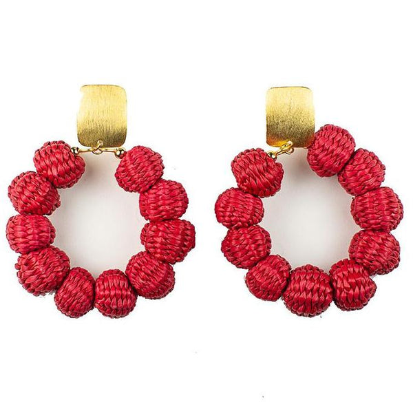 Red Palm Carlota Earrings