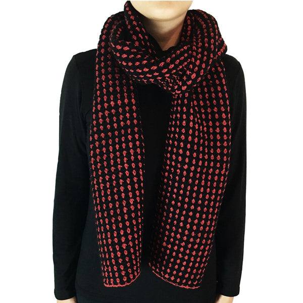 Red Roset Scarf