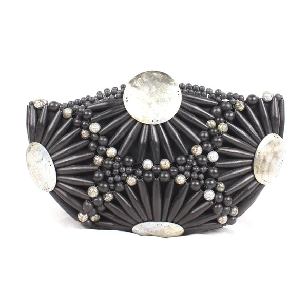 Rocio and Mother of Pearl Bead Clutch