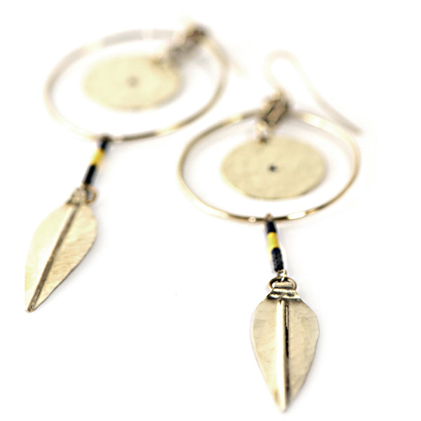 Recycled Brass Kataji Earrings