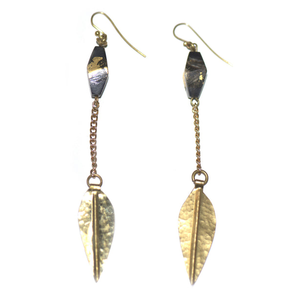 ADELE DEJAK, Recycled Brass Koboji Earrings