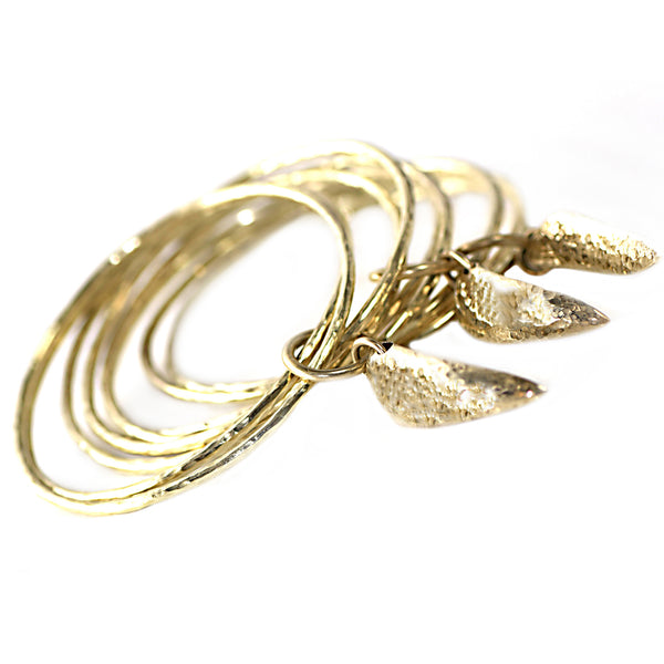 Recycled Brass Koshauna Bangle Set