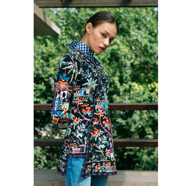 Black The Macaw Embroidered Jacket