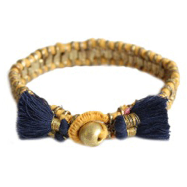 Amber and Indigo 'Cala' Bracelet